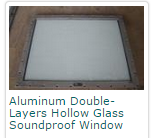 Aluminum Double-Layers Hollow Glass Soundproof Window