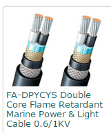 FA-DPYCYS Double Core Flame Retardant Marine Power & Light Cable 0.61KV