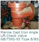 Marine Cast Iron Angle Lift Check Valve GBT592-93 Type BBS