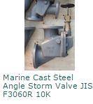 Marine Cast Steel Angle Storm Valve JIS F3060R 10K