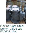 Marine Cast Steel Storm Valve JIS F3060R 10K